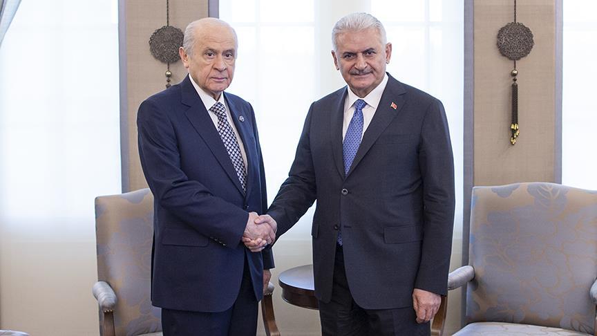 Başbakan Yıldırım ile Devlet Bahçeli terör operasyonlarını ve uyum yasalarını görüştü