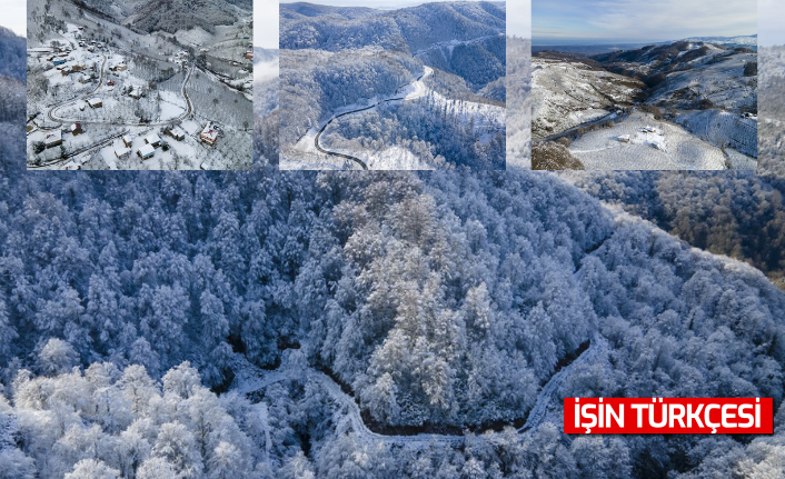 Sakarya'da karla kaplanan Çam Dağı görsel şölen sunuyor