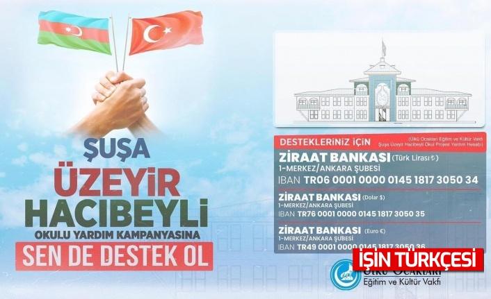 ÜLKÜ OCAKLARI'NDAN KARDEŞ ÜLKE AZERBAYCAN'DAKİ OKUL PROJESİ İÇİN YARDIM KAMPANYASI