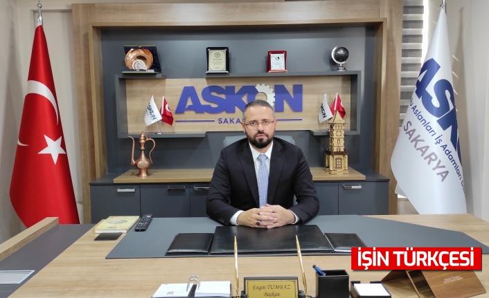 """ASKON Sakarya Şube Başkanı Tumbaz: """"TOPLUMLARIN TEMEL TAŞI AİLE, AİLENİN TEMEL TAŞI İSE KADINLARIMIZDIR"""""""