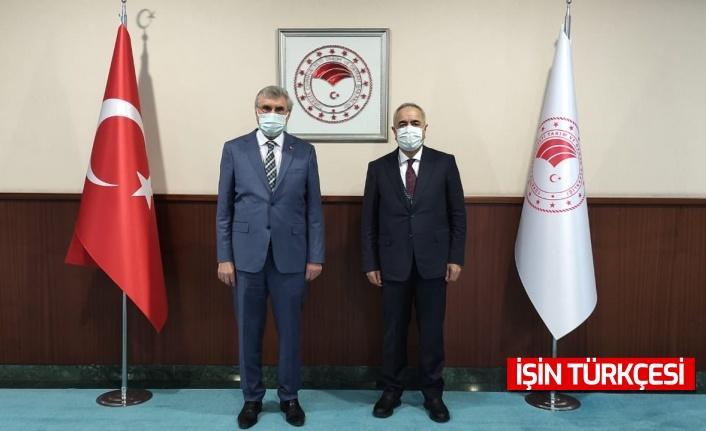 Tarım ve Orman Bakan Yardımcısı Mehmet Hadi Tunç ve Başkan Ekrem Yüce bir araya geldi