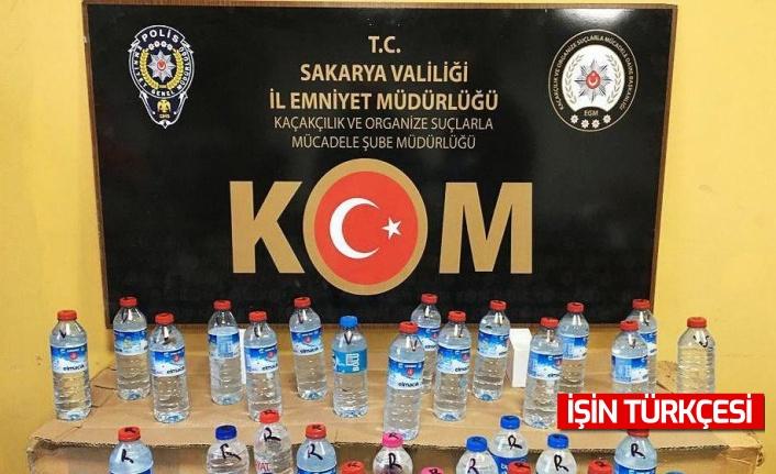 Sakarya'da kaçak alkol operasyonu: 16 buçuk litre ele geçirildi