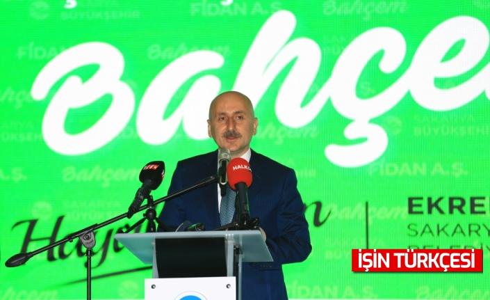 """Ulaştırma ve Altyapı Bakanı Karaismailoğlu, Sakarya'da """"Bahçem"""" satış merkezinin açılışını gerçekleştirdi"""
