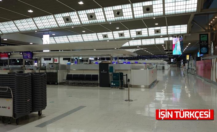 Olimpiyatlara günler kala Japonya'nın en büyük havaalanı terk edilmiş izlenimi veriyor