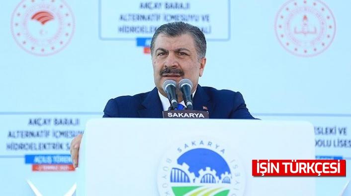 Sağlık Bakanı Dr. Fahrettin Koca Sakarya'da toplu açılış töreninde açıklamalar yaptı