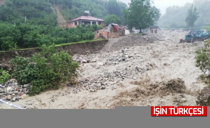 Sakarya'da sağanak nedeniyle dere taştı, tarım arazilerini ve yolları su bastı