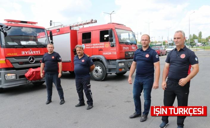 """Antalya ve Muğla'daki yangınların ardından Sakarya'ya dönen """"ateş savaşçıları"""" yaşadıklarını anlattı"""