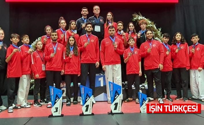 Avrupa Ümitler ve Yıldızlar Tekvando Şampiyonası'nda Milli Takımımızdan madalya yağmuru