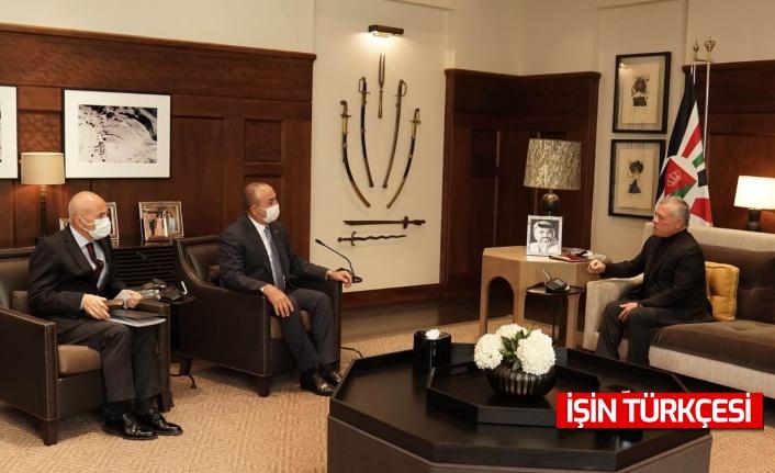 Bakan Mevlüt Çavuşoğlu, Ürdün Kralı II. Abdullah ile görüştü!