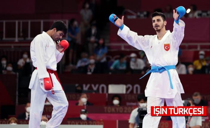 Milli karateci Eray Şamdan'dan olimpiyat gümüş madalyası!