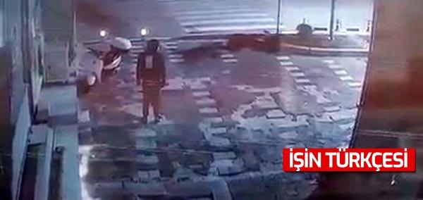Sakarya'da hırsız güvenlik kamerasından değil başkasını görünce kaçtı