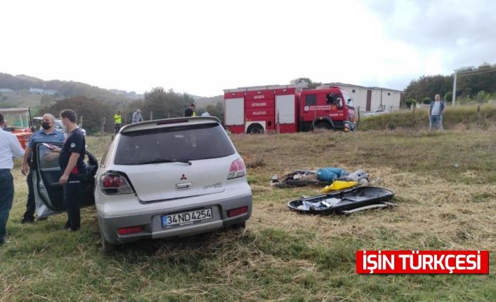 Sakarya'da otomobilin yoldan çıktı, 5 kişi yaralandı