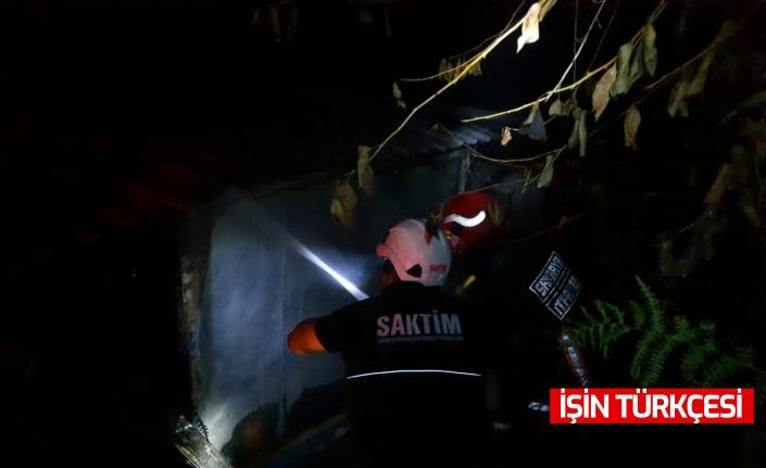 Akyazı'da yayladaki evde yangın çıktı