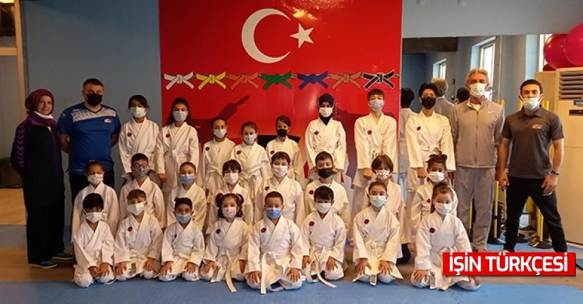 Ada Karate Akademi'de terfi heyecanı