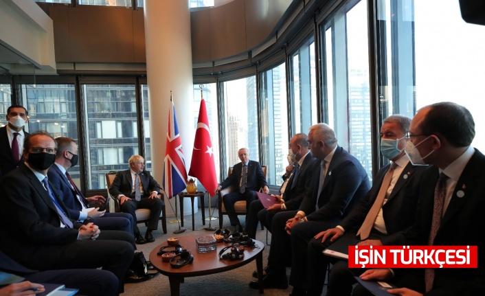 Cumhurbaşkanı Recep Tayyip Erdoğan,  Johnson'u kabul etti