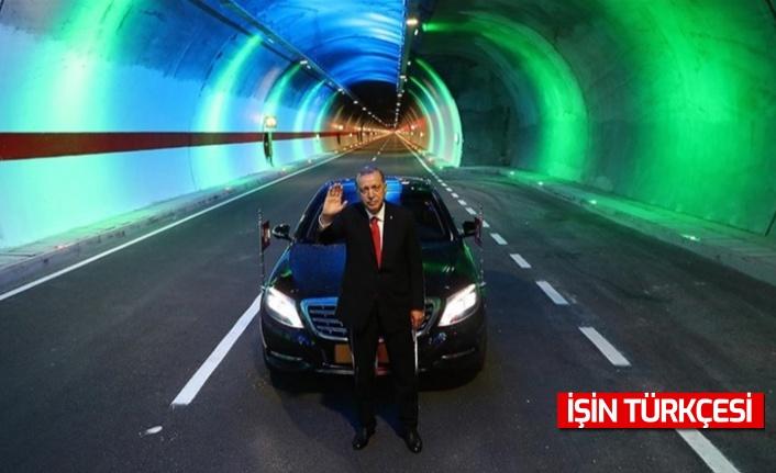 Erdoğan: ''Dağları deldik, denizleri aştık, son 19 yılda toplamda 567 kilometre uzunluğunda 364 tüneli hizmete açtık.''