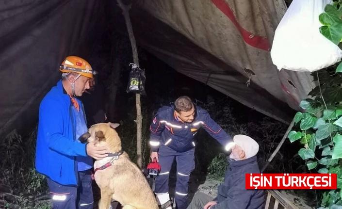 Kayıp ihbarı üzerine ekipler harekete geçmişti, kulübede bulundu