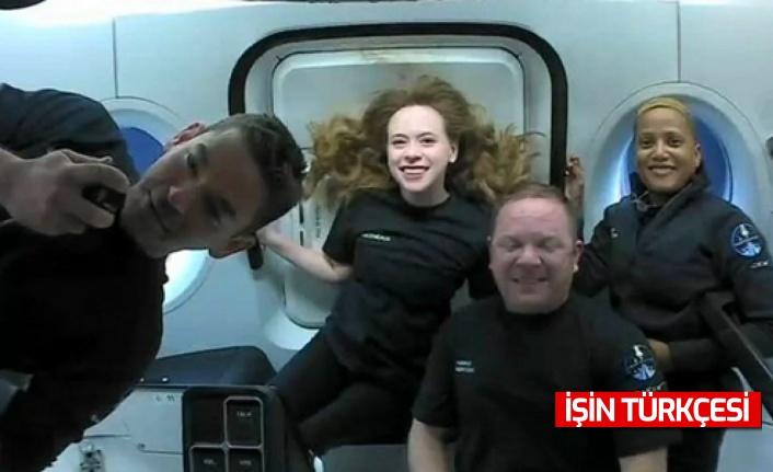 SpaceX'in 4 amatör astronotundan ilk görüntüler geldi