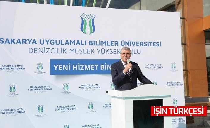 """Ekrem Yüce, Kocaali Denizcilik MYO'nun açılışında konuştu: """"Türkiye'nin denizden çıkardığı katma değer artacak"""""""