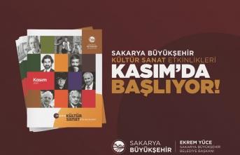 Sakarya Büyükşehir Belediyesi Kasım Kültür Sanat Takvimi belirlendi