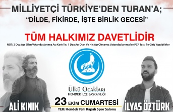 Ülkücüler Milliyetçi Türkiye'den Turan'a Gecesinde Buluşacak