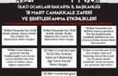 Ülkü Ocakları Sakarya İl Başkanlığı 18 Mart Çanakkale Zaferi ve Şehitleri Anma Etkinlikleri