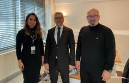 İşin Türkçesi İmtiyaz Sahibi Ferit Şekerli RATED Başkanı Remzi Adıyaman'ı makamında ziyaret etti