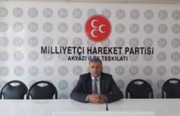 MHP Akyazı İlçe Başkanı Ali Dertli, Atsız'ı anma mesajı yayınladı