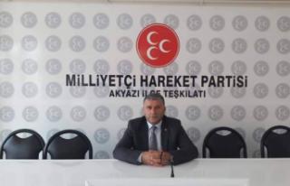 MHP Akyazı İlçe Başkanı Ali Dertli, Atsız'ı...