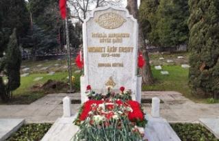 Milli Şair Mehmet Akif Ersoy Kabri Başında Anıldı