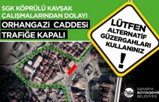 SGK Kavşağı bölgesi 28 Mart Pazar gününden itibaren...