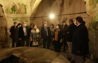 Tarihi Millet Hamamı Restorasyonu Hız Kazanıyor