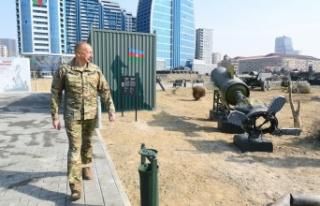 Aliyev, Askeri Ganimet Parkı'nın açılışını...