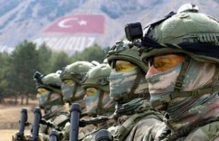 Barış Pınarı bölgesine taciz ateşi açan 4 terörist...