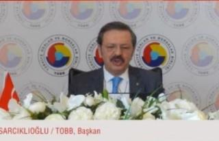 """TOBB Başkanı Hisarcıklıoğlu: """"(e-ihracat) Tüm..."""