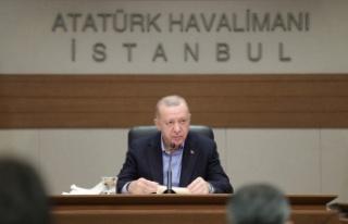 Cumhurbaşkanı Erdoğan Atatürk Havalimanı'nda...