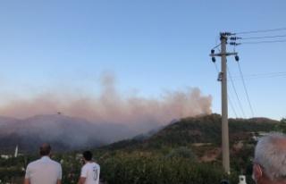 Marmaris'teki orman yangınına müdahale çalışmaları...
