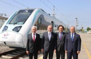 Milli Elektrikli trenin son testi Cumhurbaşkanı...