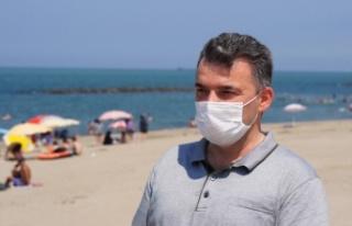 Sakarya'nın sahil kenti Karasu, bayram tatilinde...
