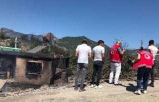 Yangında zarar görenlere psiko-sosyal ve ekonomik...