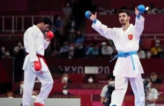 Milli karateci Eray Şamdan'dan olimpiyat gümüş...