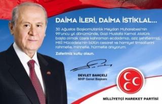 MHP Resmi Twitter hesabından 30 Ağustos Zafer Bayramı...