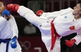 Olimpiyatlarda yarışan karateci milli sporcumuz...