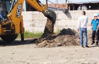 Sakarya'da yağmur suyu kanalına atık boşaltan...