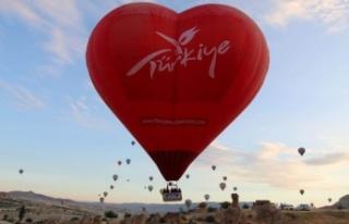 Türkiye'nin ilk özel şekilli balonları Kapodokya'da...