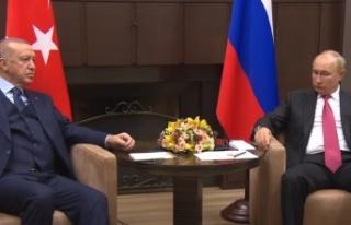 Cumhurbaşkanı Erdoğan'ın Putin'le görüşmesi...