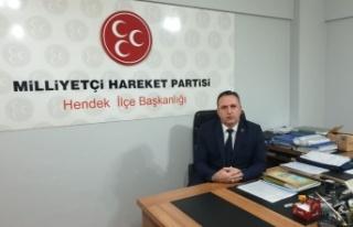 MHP Hendek İlçe Başkanı Namlı'dan basın...