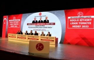 """MHP'nin """"Güçlü Siyaset, Lider Türkiye,..."""