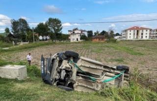 Adapazarı'nda duble yolda kaza