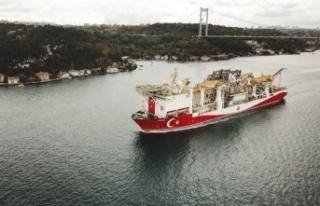 Yavuz Sondaj Gemisi, Karadeniz'e açıldı